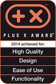 Plus X Awars 2014 High Quality, Design, Ease of Use, Functionality