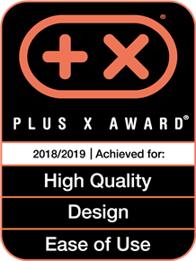 Plus X Award 2018/2019 High Quality, Design, Ease of Use